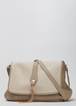 Бежевая сумка Marina Creazioni с декором-кисточкой, фото