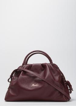 Бордовая сумка Marina Creazioni из мягкой кожи, фото