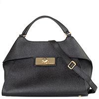 Женская сумка-портфель Arcadia черного цвета, фото