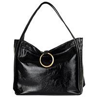 Черная сумка Arcadia с золотистой фунитурой, фото