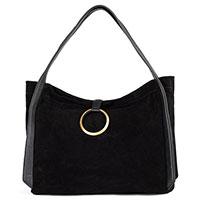 Женская сумка Arcadia из черной замши, фото