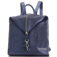 Рюкзак Di Gregorio синего цвета с металлическим отливом, фото