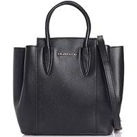 Черная сумка Di Gregorio из зернистой кожи, фото