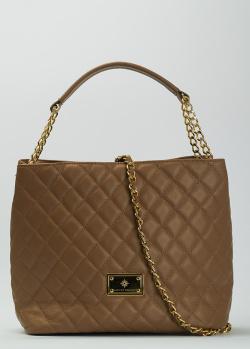 Коричневая сумка Massimo Granieri с брендовым декором, фото