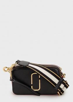 Черная сумка Marc Jacobs The Snapshot с золотистым лого, фото