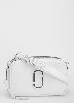 Белая сумка Marc Jacobs с серебристой фурнитурой, фото