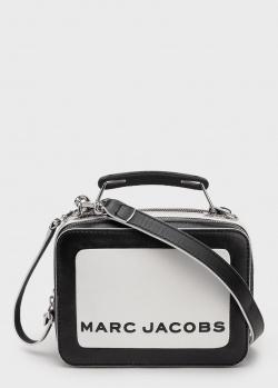 Сумка Marc Jacobs The Colorblocked Mini Box Bag черно-белого цвета, фото