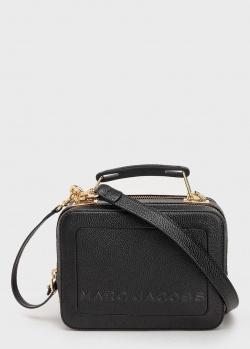 Черная сумка Marc Jacobs The Textured Mini Box Bag с ручкой, фото