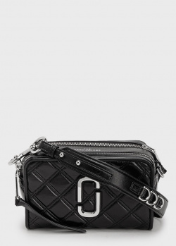 Стеганая сумка Marc Jacobs The Quilted Softshot 21 черного цвета, фото