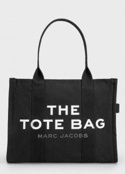 Шоппер из текстиля Marc Jacobs с фирменной нашивкой, фото