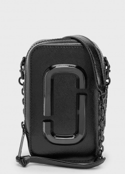 Однотонная сумка Marc Jacobs The Hot Shot DTM черного цвета, фото