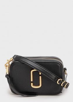 Черная сумка Marc Jacobs The Softshot 17 с золотистым логотипом, фото