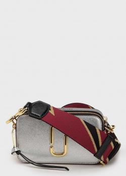 Прямоугольная сумка Marc Jacobs The Snapshot серебристого цвета, фото