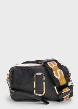 Черная сумка Marc Jacobs с брендовым декором, фото