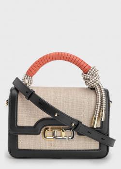 Бежевая сумка Marc Jacobs J Link с плетеной ручкой, фото