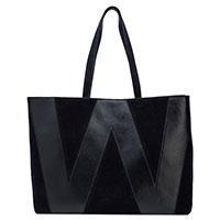 Женская замшевая сумка Max Mara с надписью, фото