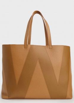 Сумка-шоппер Max Mara Weekend из коричневой кожи, фото
