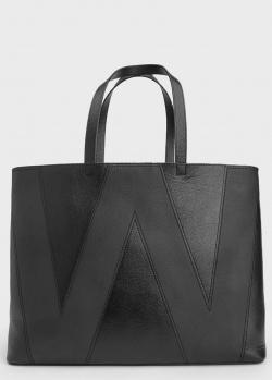 Черная сумка-шоппер Max Mara Weekend с буквой, фото