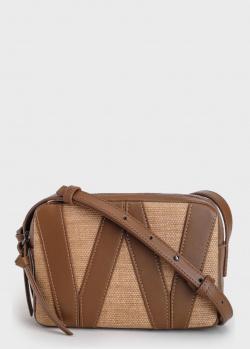 Бежевая сумка Max Mara Esposto с коричневыми вставками, фото