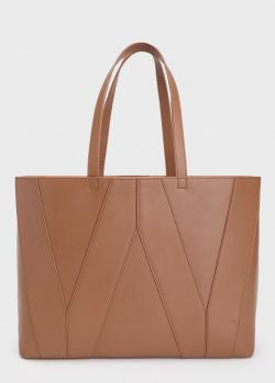 Сумка-шоппер Max Mara Weekend коричневого цвета, фото