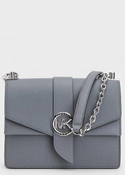 Голубая сумка кросс-боди Michael Kors Greenwich с цепочкой, фото