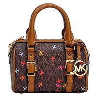 Маленькая женская сумка Michael Kors с принтом, фото