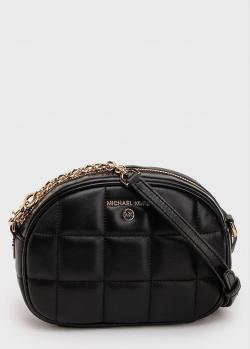Черная стеганая сумка Michael Kors Jet Set с цепочкой, фото
