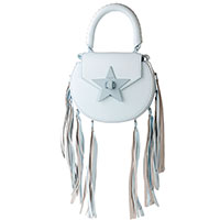 Голубая сумка Salar с кисточкой, фото