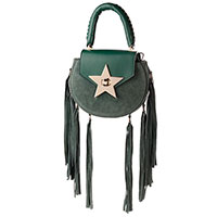 Зеленая сумка Salar с бахромой, фото