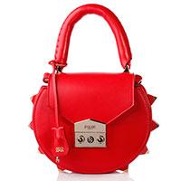Женская сумка Salar из кожи красного цвета, фото