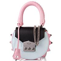 Голубая сумка Salar с розовыми вставками, фото