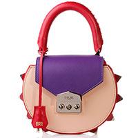 Бежевая сумка Salar с разноцветными вставками, фото