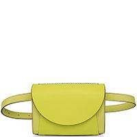 Поясная сумка Marni из кожи лимонного цвета, фото
