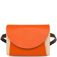 Двухцветная поясная сумка Marni на два отделения, фото