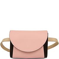Женская поясная сумка Marni светло-розового цвета, фото