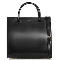 Женская сумка Marina Volpe из черной полированной кожи, фото