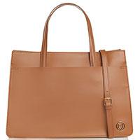 Сумка-шоппер Marina Volpe коричневого цвета, фото