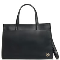 Женская сумка Marina Volpe из черной кожи, фото