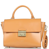 Коричневая сумка Marina Volpe из кожи, фото