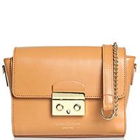 Светло-коричневая сумка Marina Volpe из гладкой кожи, фото