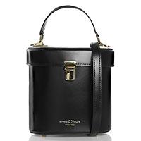 Черная деловая сумка Marina Volpe из кожи, фото