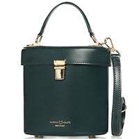 Женская деловая сумка Marina Volpe из кожи зеленого цвета, фото