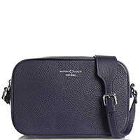 Фиолетовая сумка-кроссбоди Marina Volpe из кожи, фото
