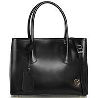 Черная сумка-тоут Marina Volpe из полированной кожи, фото