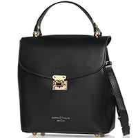 Черная сумка Marina Volpe из кожи, фото