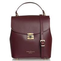 Женская сумка Marina Volpe из кожи бордового цвета, фото