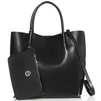 Черная сумка Marina Volpe из полированной кожи, фото