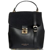 Женская сумка Marina Volpe из кожи черного цвета, фото
