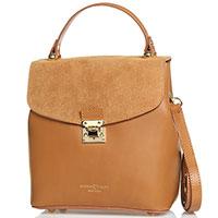 Деловая сумка Marina Volpe коричневого цвета, фото
