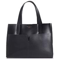 Черная сумка-тоут Marina Volpe со съемным отделением, фото